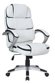 office chair white leather. Cool Black And White Desk Chair Leather Office Pro Line Ii Mid Back