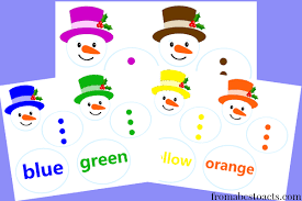 Printable Color Matching Snowmen From Abcs To Acts
