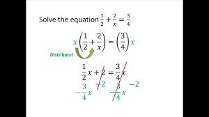 solving equations with fractions and variables photo 2