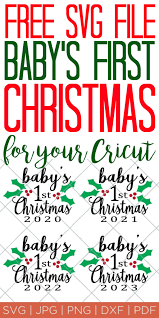 If you have a cricut or a silhouette, you will want to follow along for free svg files. Baby S First Christmas Ornament Free Svg File The Country Chic Cottage