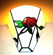 stained glass wall light sconce creative apple style designer fixtures corridor outdoor lights