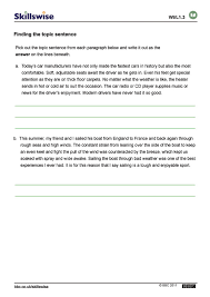 Writing A Topic Sentence Worksheet Free Worksheets Library ...