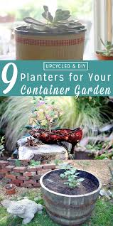 diy planters upcycled planters for your garden crafting a green world