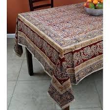 vegetable dye hand block print fl cotton round tablecloth rectangular square napkins 52 inch vinyl