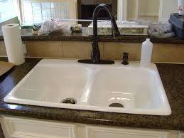 White Kitchen Sink Faucets Kitchen Faucet White Addison Touchless Single Handle Standard
