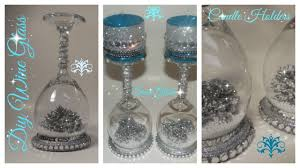 diy wine glass snow globe candle holder dollar tree