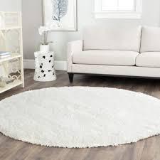 white fluffy rug living room. safavieh california cozy plush milky white shag rug (8\u00276 round) fluffy living room