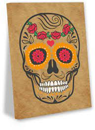 awkward styles sugar skull canvas art