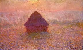 haystacks sun in the mist 1891 claude monet
