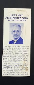 Roy Hatch – Waco Rotary Club Veterans