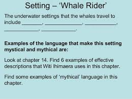 setting whale rider  4 setting whale rider the