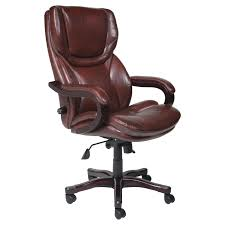 Office Chair Leather Deluxe High Back Office Chair Pu Leather Executive Brown Module 2