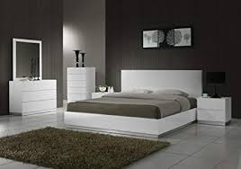 Amazon.com: J&M Furniture Naples Modern White Lacquered Bedroom set ...