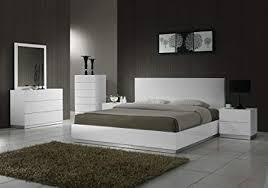 Amazon.com: J&M Furniture Naples Modern White Lacquered Bedroom set ...