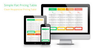 table design css. Simple CSS Flat Pricing Table - CodeCanyon Item For Sale Design Css