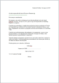 Formato De Cartas Personales