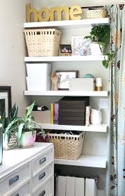 home office shelf. Office Makeover Floating Shelves More Storage Pepper New  Pepperdesignblogcom Home Home Office Shelf