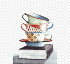 coffee cup still life tea watercolor painting tea