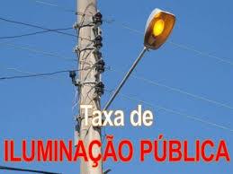 Resultado de imagem para TAXA DE ILUMINAÇÃO PÚBLICA