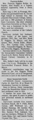 Obituary for Patricia Higgins Keller (Aged 28) - Newspapers.com