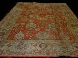 antique ghiordes oushak rug 12 x 14 rn ou28111 circa 1900