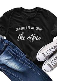 I'd Rather Be Watching The Office T Shirts Women's ... - Amazon.com