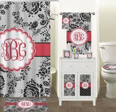 Bathroom: Exclusive Black Lace Black Bathroom Accessories With ...
