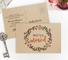 50 Moving Announcement Cards Printed On Kraft Paper Weve Moved