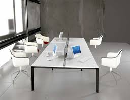 simple white modern office furniture with designing home