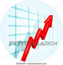 Trending Graph Upward Trending Arrow On A Business Graph Clip Art