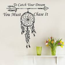 Dream Catcher With Quote Best Of Wall Decals Quote To Catch Your Dream Vinyl Sticker Amulets Feather