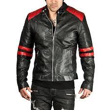 hugme fashion new stylish genuine leather jacket color sport bike er jk164