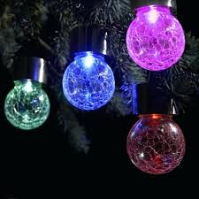 color changing solar garden lights. Color Changing Solar Garden Lights Pack Led Hanging Light Crackle Glass Globe