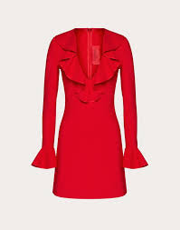 Double Comfort Crepe Dress For Woman Valentino Online Boutique