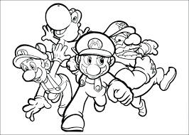 Super Mario Bros 30 On Mario Brothers Coloring Pages Coloring
