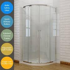 elegant new quadrant shower enclosure door cubicle 8mm easy clean glass