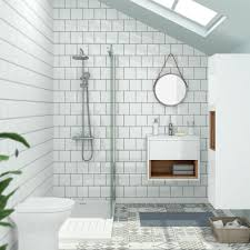 White bathroom tiles Marble Square White Wall Gloss Tiles Alison Cork For Victorian Plumbing Bathroom Tile Ideas Victorian Plumbing Bathroom Tile Ideas For Small Bathrooms Victorian Plumbing