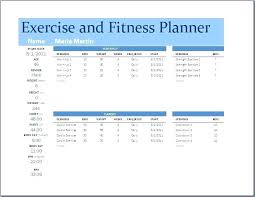 Workout Schedule For Running A Exercise Training Program Template ...