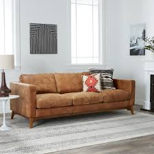 uncomfortable couch. Carson Carrington Filmore 89-inch Tan Leather Sofa - Free Shipping Today Overstock 16070449 Uncomfortable Couch