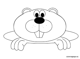 Small Picture Free Groundhog Day coloring page