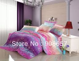 purple pink blue omber abstract prints cotton bedding girls bed linens bed set queen full quilt duvet covers sets for comforter