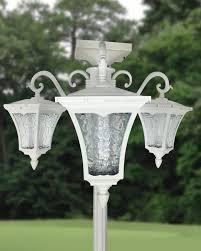 Three Head Solar Path Lamp Post Planter Outdoor Lighting