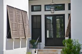exterior transpa double glass front doors with black wooden frame plus glass windows connected