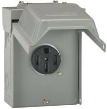 rv power outlet 50 amp temporary rv power outlet lockable rainproof wall mount electrical box