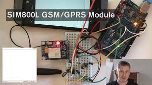 Arduino with: <b>SIM800L GPRS GSM Module</b> sending an SMS ...