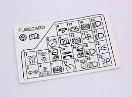 fuse diagram key card 98 05 vw passat b5 genuine 3b0 010 241 f image is loading fuse diagram key card 98 05 vw passat