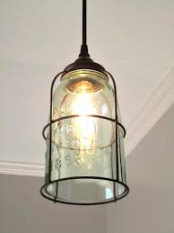 pendant lighting fixture. rust cage half gallon mason jar pendant light lighting fixture