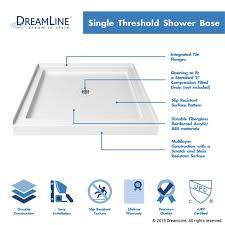 slimline single threshold shower base
