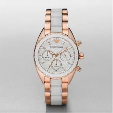 emporio armani ar5942 women rose gold and white strap sportivo watch emporio armani ar5942 women rose gold white sportivo watch