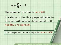 image titled find the equation of a perpendicular line given an equation and point step 2